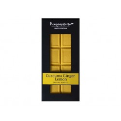 Organic White chocolate - curcuma, ginger and lemon, vegan, Benjamissimo, 70 g