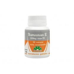 Vitamin E, 100 mg alfa-TE, Niksen, 30 capsules