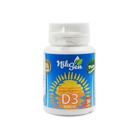 Витамин D3, 5000 IU, Никсен, 30 таблетки
