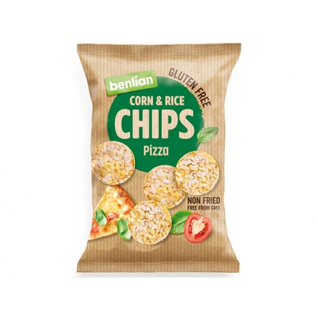 Corn and Rice Chips - pizza, Benlian, 50 g