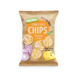 Corn and Rice Chips - cheese and onion, Benlian, 50 g