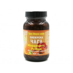 Triple Immuno Mix - Siberian Chaga, Cordyceps, Reishi, 90 capsules