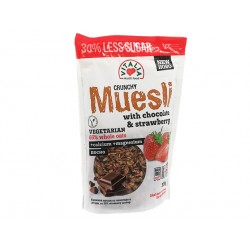 Crunchy Muesli with chocolate, strawberry and brown sugar, 375 g