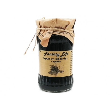 Elderberry syrup with raspberry - 350 g