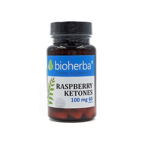 Raspberry ketones, weight loss, Bioherba, 60 capsules