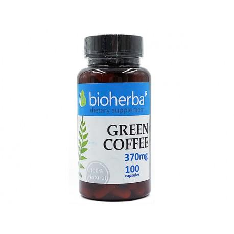 Зелено кафе, за отслабване, Биохерба, 100 капсули
