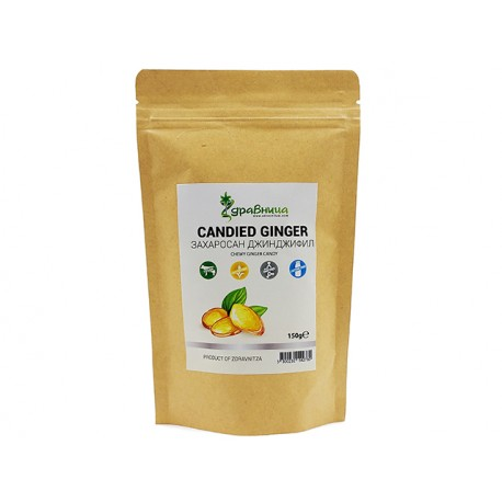 Захаросан джинджифил (здравословни бонбони), Здравница, 150 гр.