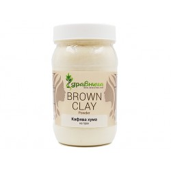 Natural Brown Clay, powder, Zdravnitza, 380 g