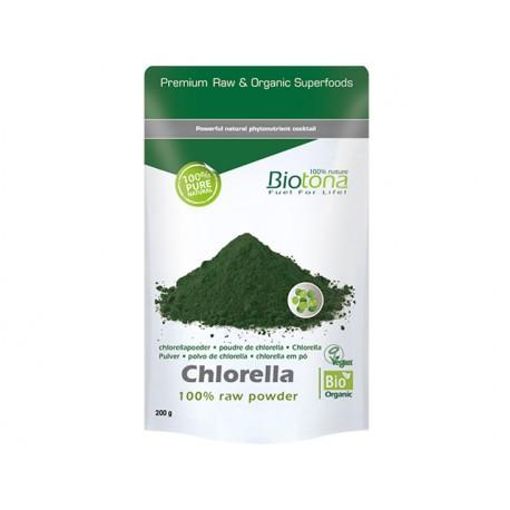Organic Chlorella powder, Biotona, 200 g