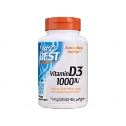 Витамин D3, 1000 IU, Д-р Бест, 180 капсули