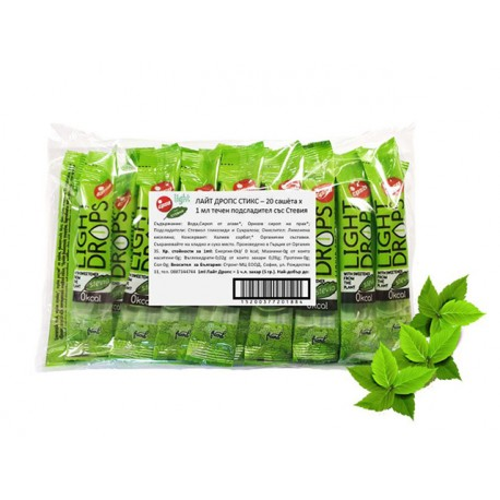 Light Drops, liquid sweetener with Stevia, EPSA, 20 sticks