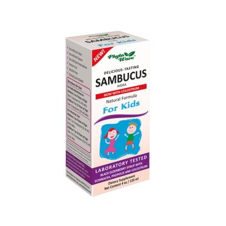 Sambucus Nigra for kids, syrup, Phyto Wave, 120 ml
