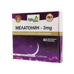 Мелатонин - 3 mg, Никсен, 80 таблетки