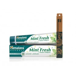 Mint-Fresh toothpaste and bamboo toothbrush, Himalaya, 1 pc.