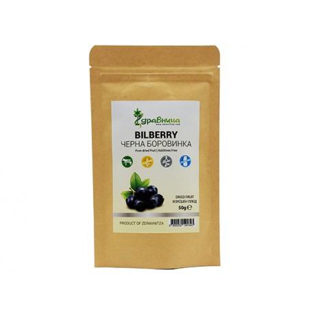 Bilberry, pure dried fruit, Zdravniza, 50 g