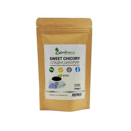 Сладка Цикория, на прах, заместител на кафето, Здравница, 100 гр.
