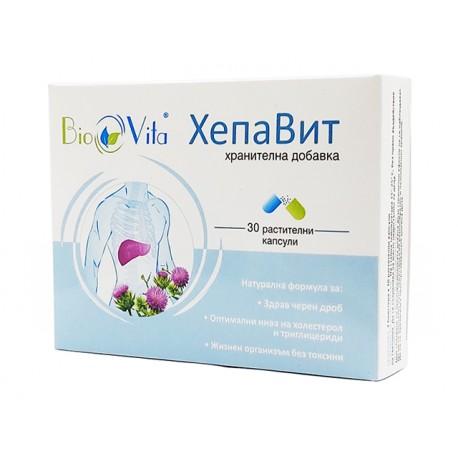 HepaVit, lowering cholesterol levels, BioVita, 30 capsules