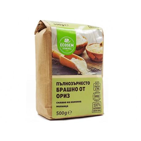 Wholemeal rice flour, Ecosem, 500 g