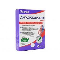 Дихидрокверцетин, за сърце и кръвоносни съдове, Евалар, 60 таблетки