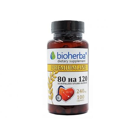 80 x 120, lowering blood pressure, Bioherba, 100 capsules