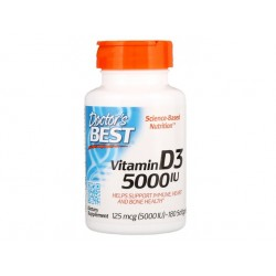 Vitamin D3, 5000 IU, Doctor's Best, 180 capsules