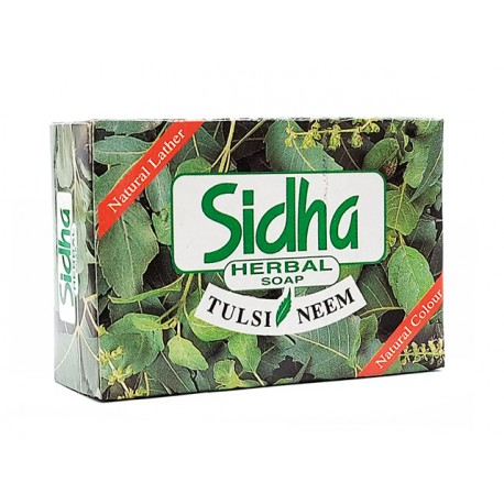 Herbal soap with Tulsi and Neem, Sidha, 75 g