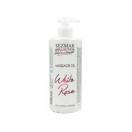 White Rose Massage Oil, professional, Sezmar, 500 ml