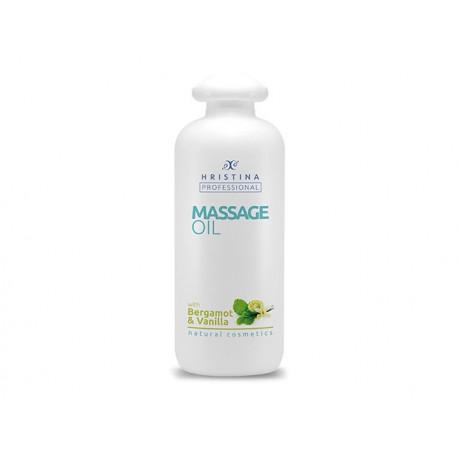 Professional Massage Oil - Bergamot and Vanilla, Hristina, 500 ml