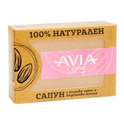 Натурален сапун с розова хума и бадемово масло, Avia, 110 гр.