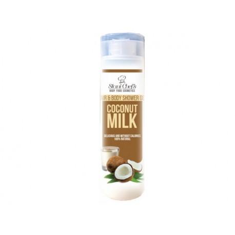 Душ гел за коса и тяло с кокосово мляко