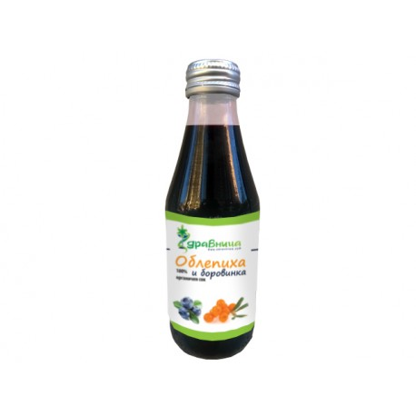 Сок от облепиха и боровинка (100% органичен)
