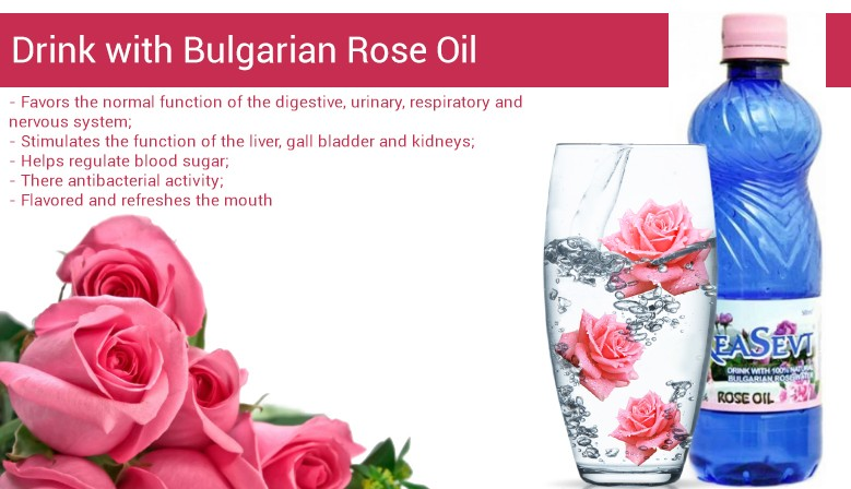 Drink with Bulgarian Rose Oil